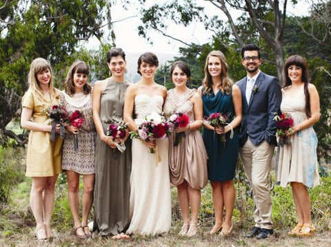 summer wedding trend gender neutral bridal party
