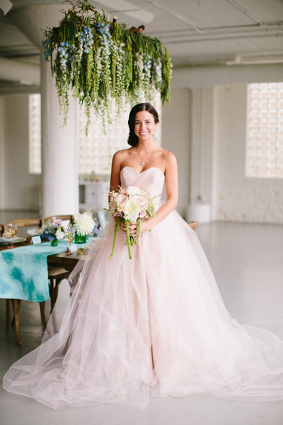 wedding dress alternatives blush gown