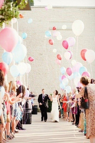wedding send off balloons