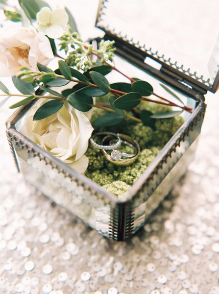 terrarium ring box botanical greenhouse wedding garden