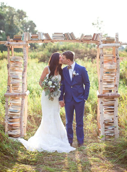 book arch wedding decor