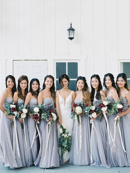 marble wedding bridesmaid dresses
