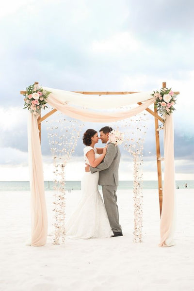 beach wedding ceremony arch