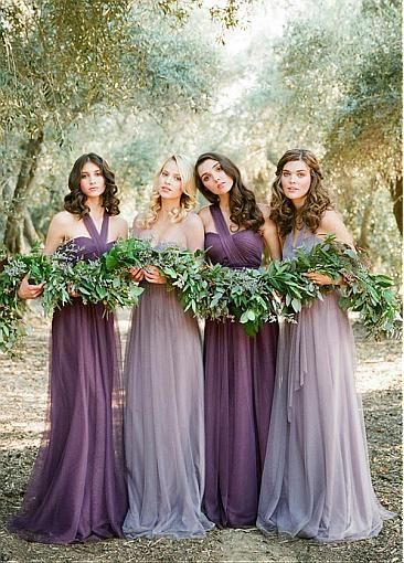 lilac bridesmaid dress gown lavender