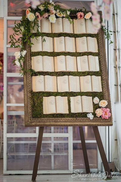 literary wedding seating chart reception