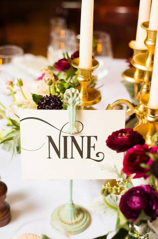 enchanting wedding table numbers