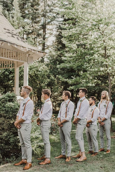 groomsman garden botanical wedding