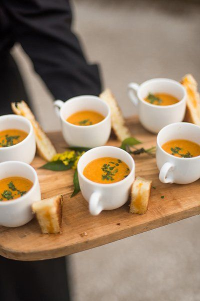 fall wedding gourmet comfort food