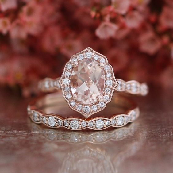 morganite diamond alternative engagement rings