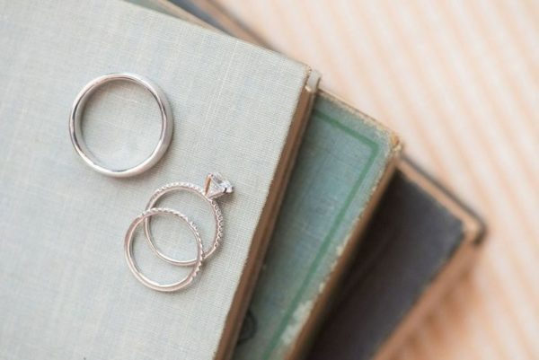 literary wedding inspiration rings