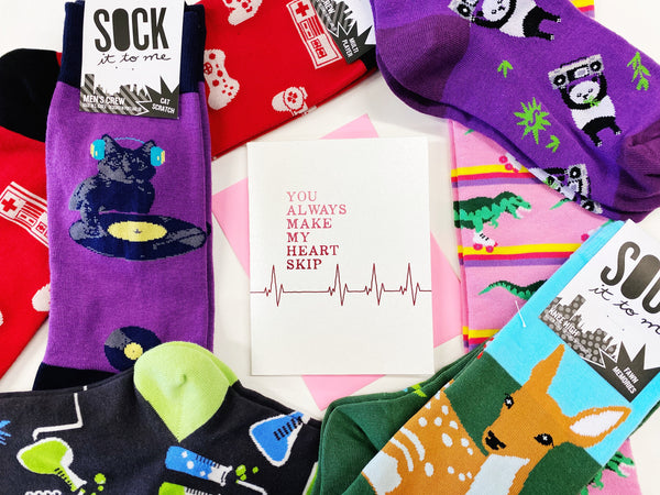 silly sock valentines day gift couples