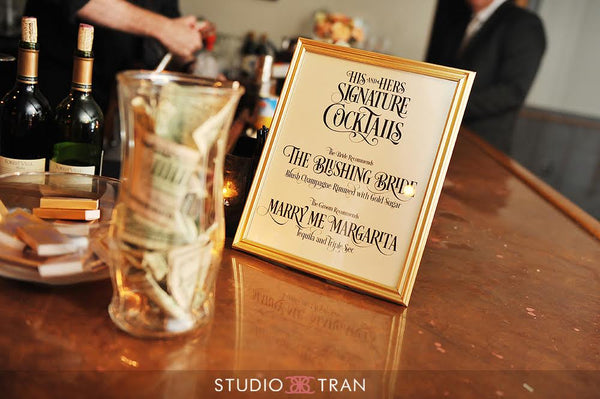 signature cocktail wedding