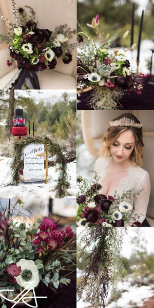 winter wedding color palette 2019
