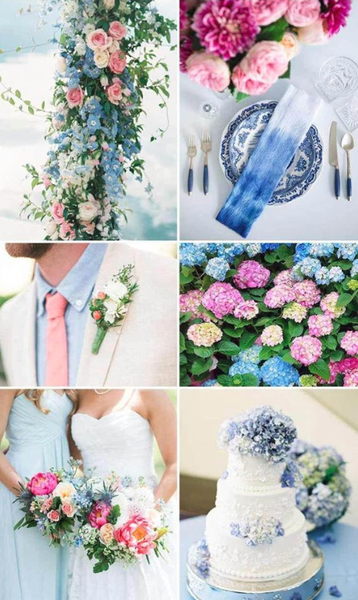 cotton candy summer wedding colors