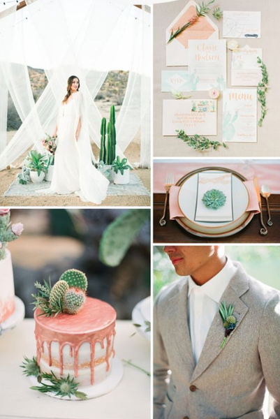 desert rose summer wedding color palette