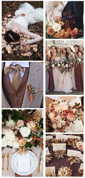 fall wedding color palette 2019