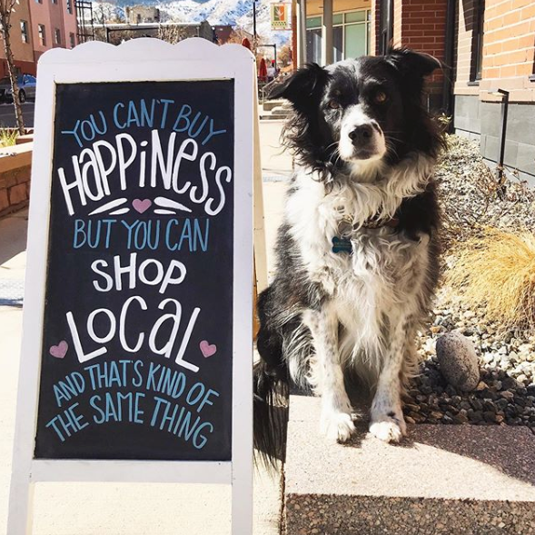 shop local be happy