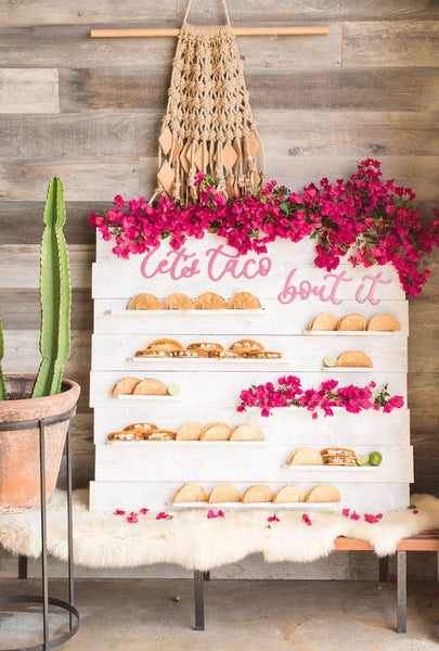 taco bar 2019 wedding trends