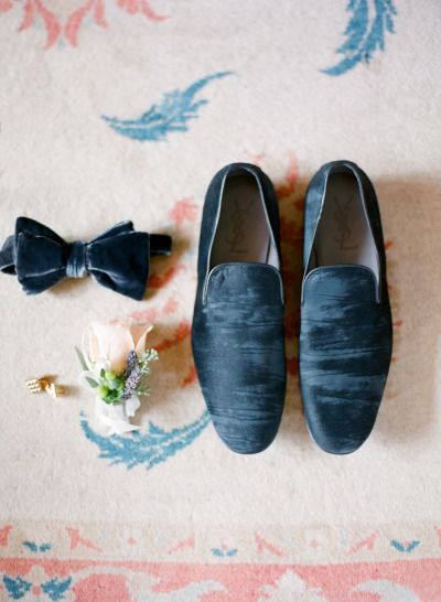 velvet groomsman accessories