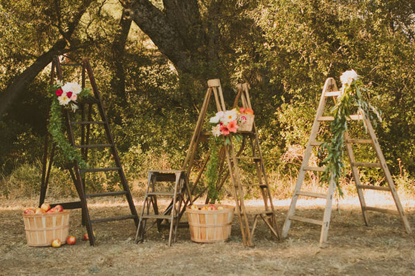 orchard wedding altar