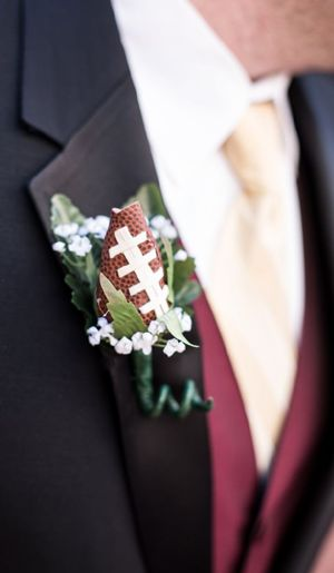 unique boutonniere floral alternative football laces