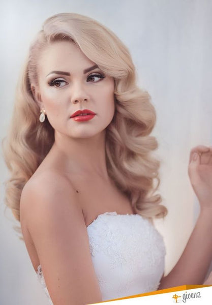 hollywood waves wedding hairstyle