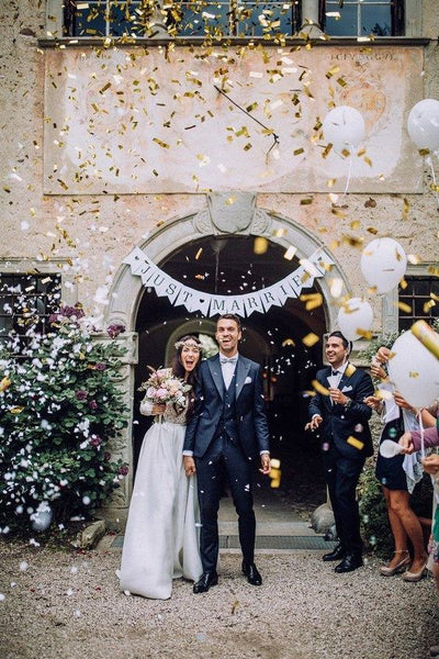 confetti send off wedding trends 2019