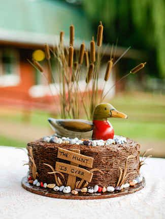 hunt is over grooms cake duck hunting