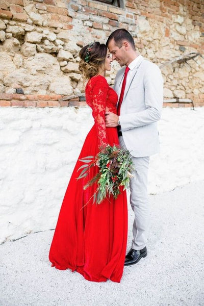 red wedding dress alternative