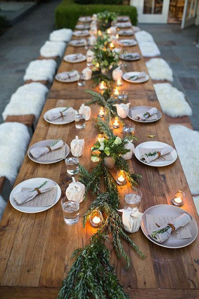 fall wedding table decor minimalist