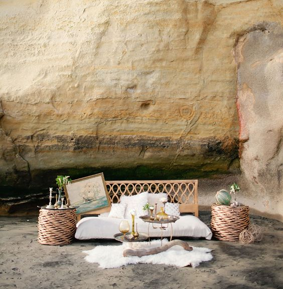 woven furniture 2019 wedding trends