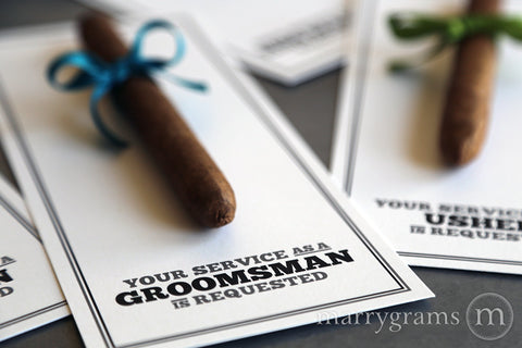 Groomsmen Cigar Cards