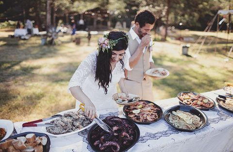 summer camp wedding food inspiration