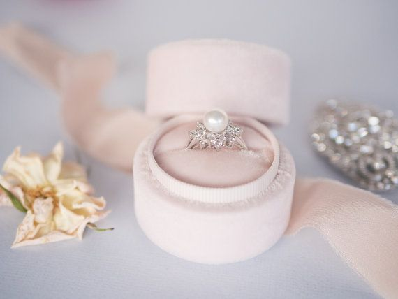 pearl diamond engagement ring alternative