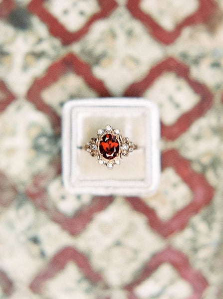 ruby diamond engagement ring alternative