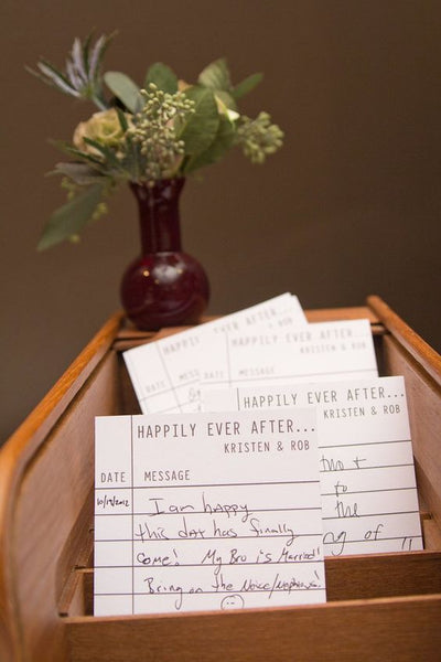 literary wedding guest book