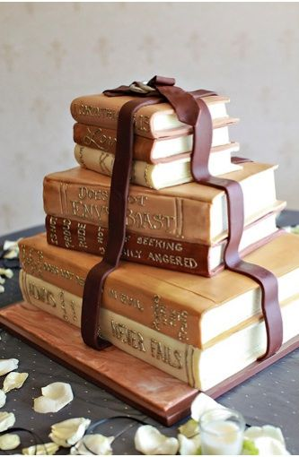 literary wedding cake book