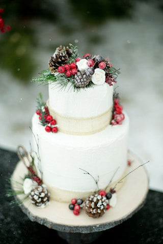 winter wedding cake food