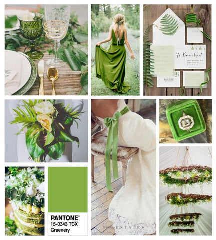 summer wedding trends 2017 greenery