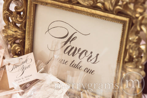 Favors Sign