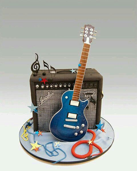 unique groom cake guitar amp