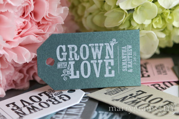 grown with love favor tags garden wedding favor