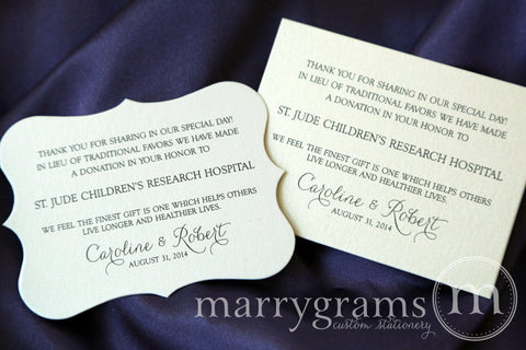 Wedding Donation Card