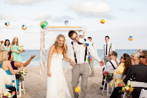 wedding send off beach balls