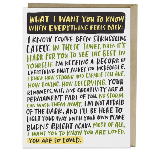 Everything Feels Dark Empathy Card