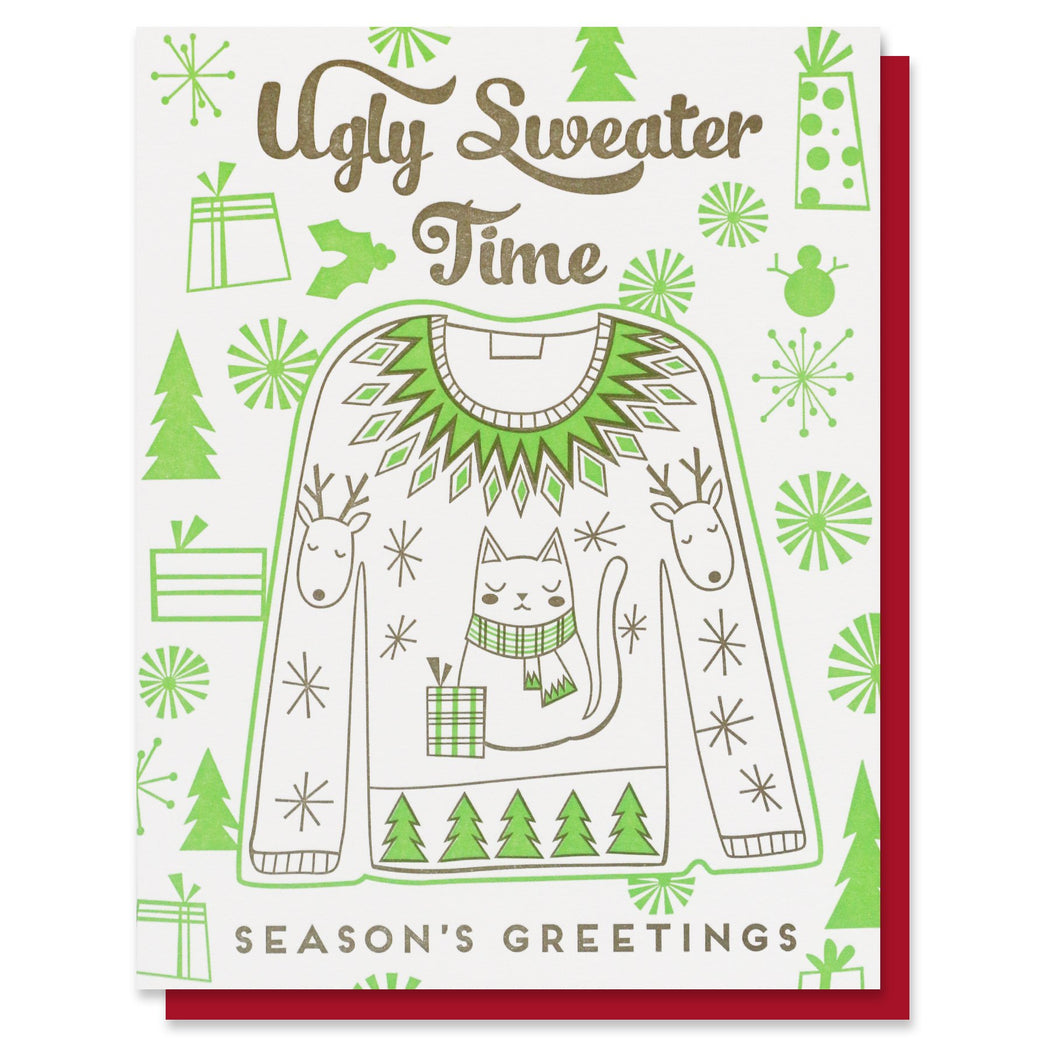 Ugly Sweater Time Holiday Card