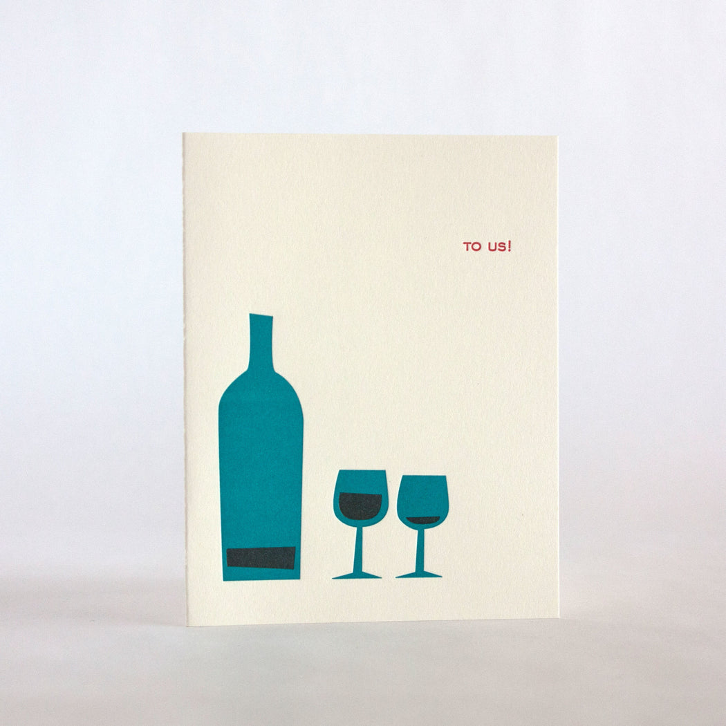 To Us Wine Card