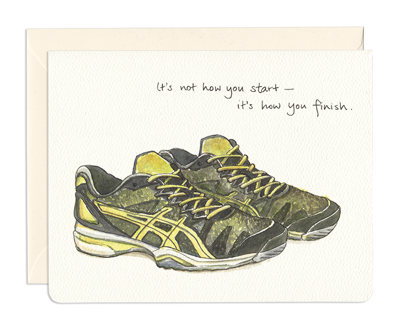 Runner Shoes How You Finish Card