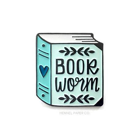 Bookworm Enamel book Pin