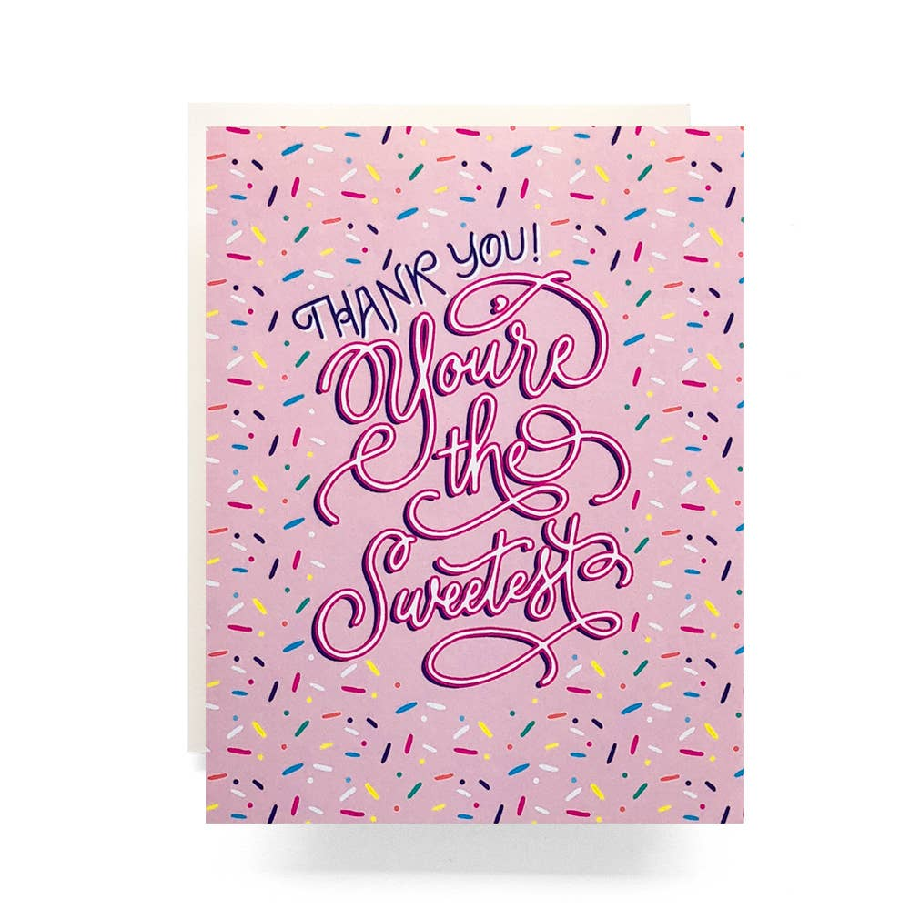 Sweetest Sprinkle Thank You Card